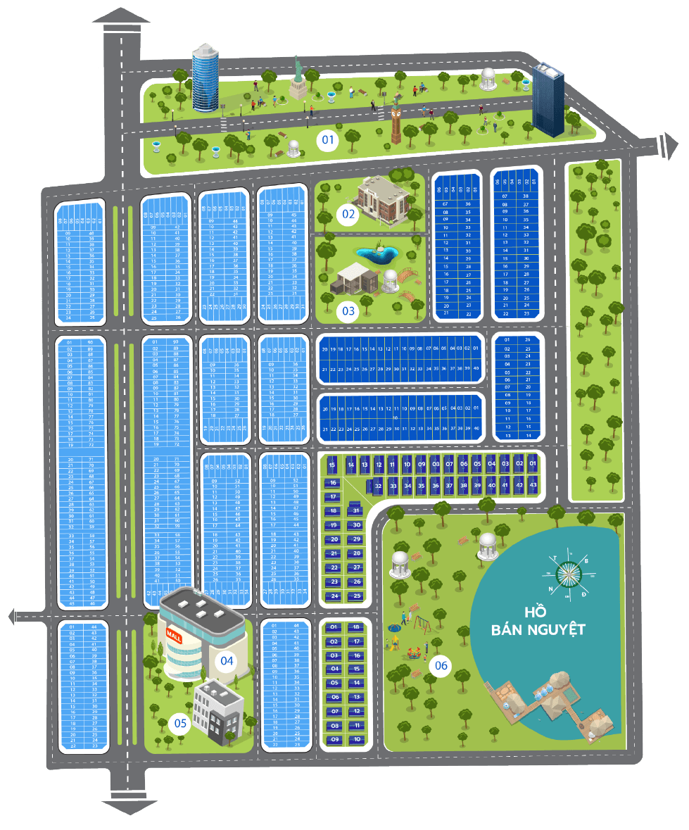 diagram ground - DỰ ÁN SAPPHIA VILLAS LONG AN