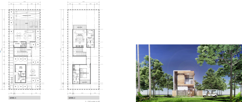 garden villa 2pn mat bang
