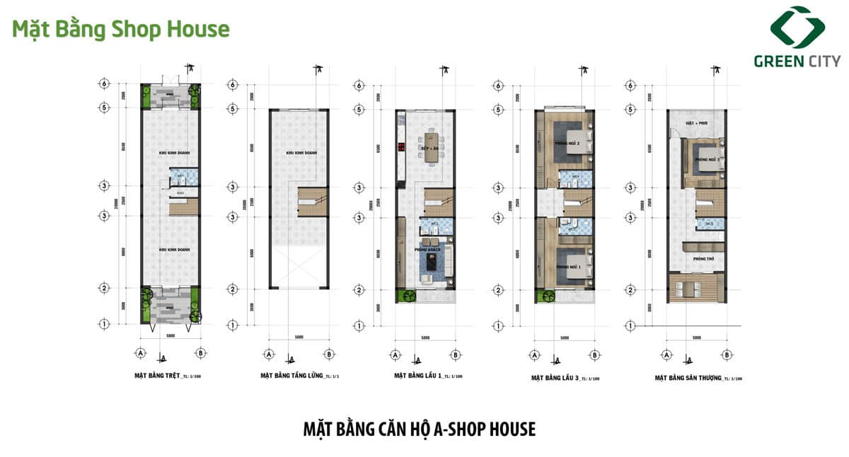 mat bang thiet ke can shophouse loai a green city - DỰ ÁN GREEN CITY QUẬN 9