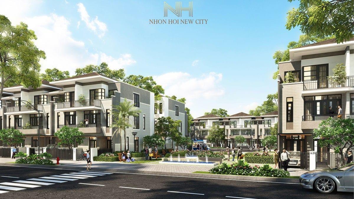 phoi canh khu nha pho du an nhon hoi new city binh dinh - DỰ ÁN KHU ĐÔ THỊ SINH THÁI NHƠN HỘI NEW CITY