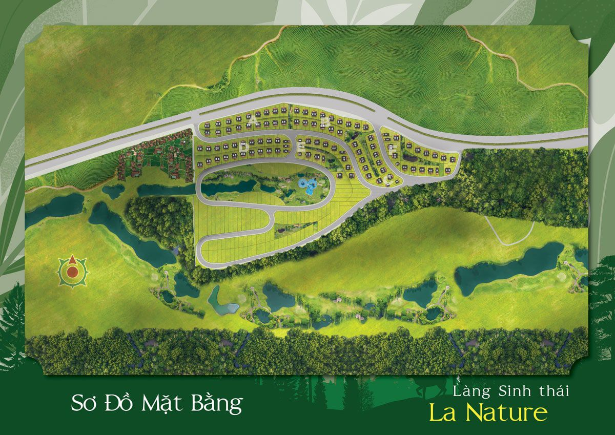 so do mat bang lang sinh thai la nature bao loc - LA NATURE BẢO LỘC