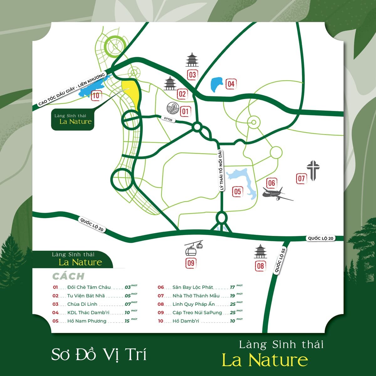 so do vi tri la nature bao loc - LA NATURE BẢO LỘC