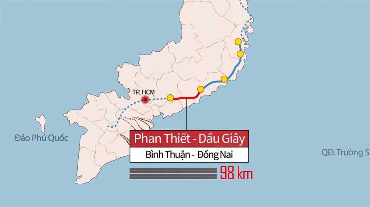 Tiến độ dự án đầu tư xây dựng tuyến cao tốc Dầu Giây - Phan Thiết tháng 3/2021