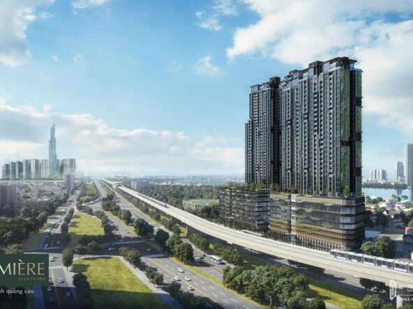 Phối cảnh tổng thể dự án căn hộ Masteri Lumière Riverside Quận 2